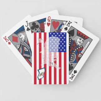 West Virginia-USA State flag map playing cards