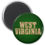 West Virginia Vintage 2 Inch Round Magnet