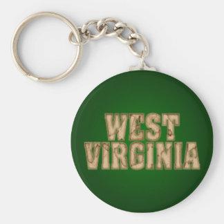 West Virginia Vintage Keychain