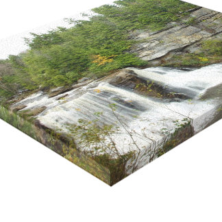 West Virginia waterfall Stretched Canvas Print