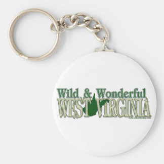 West Virginia Wild and Wonderful_2 Basic Round Button Keychain