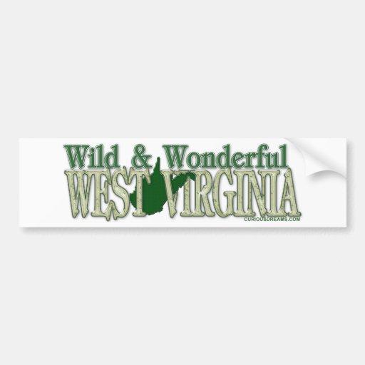 West Virginia Wild and Wonderful_2 Bumper Stickers