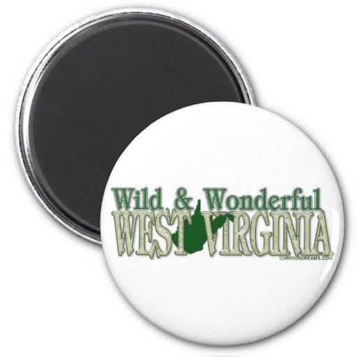 West Virginia Wild and Wonderful_2 2 Inch Round Magnet