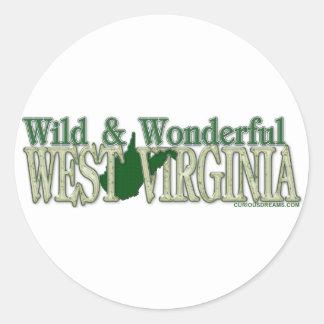 West Virginia Wild and Wonderful_2 Classic Round Sticker
