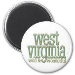 West Virginia-wild and wonderful_8 Fridge Magnet