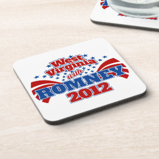 West Virginia with Romney 2012 Beverage Coaster