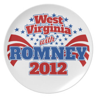 West Virginia with Romney 2012 Dinner Plate