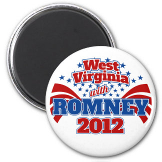West Virginia with Romney 2012 Magnet