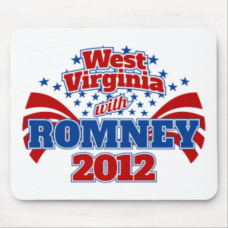 West Virginia with Romney 2012 Mouse Pad