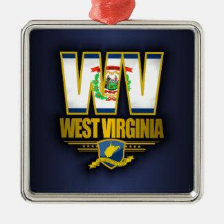 West Virginia (WV) Metal Ornament