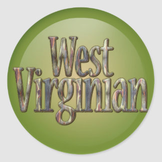 West Virginian_2 Camo Classic Round Sticker