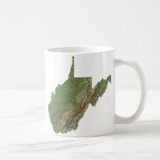 West Virginian Flag + Map Mug