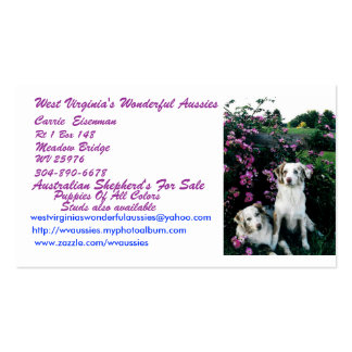 West Virginia's Wonderful Aussies, C... Business Card