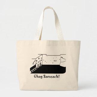 West Wall Chag Sameach Large Tote Bag
