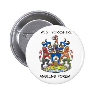 West yorkshire angling forum badge pinback button