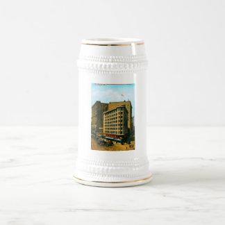 Westbank y edificios de la inundación taza de café