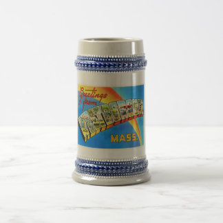 Westborough Massachusetts MA Old Travel Souvenir Beer Stein
