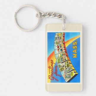 Westborough Massachusetts MA Old Travel Souvenir Keychain