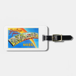 Westborough Massachusetts MA Old Travel Souvenir Luggage Tag