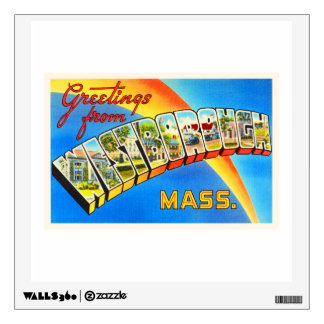 Westborough Massachusetts MA Old Travel Souvenir Wall Decal