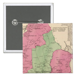 Westchester, NY 2 Inch Square Button