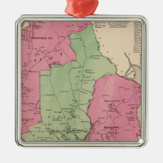 Westchester, NY Square Metal Christmas Ornament