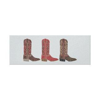 Wester Boots Wrapped Canvas Print