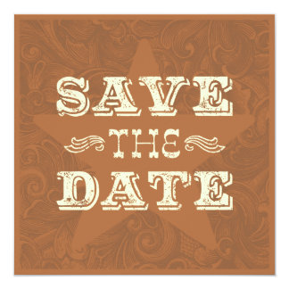 Wester Save the Date (two sided) Dark brown Card