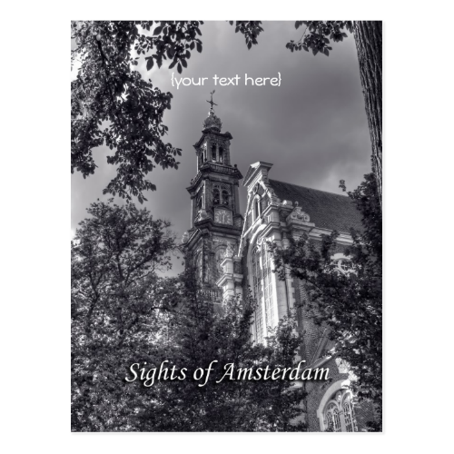 Westerkerk, Amsterdam Church, Sights of Amsterdam Post Cards
