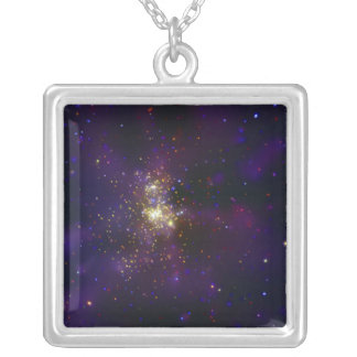 Westerlund 2, a young star cluster silver plated necklace