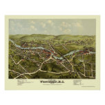 Westerly, RI Panoramic Map - 1877 Poster