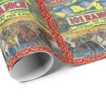 Western 101 Ranch Rodeo Cowboy Wrapping Paper