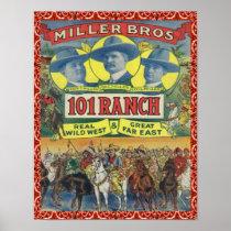 Western 101 Ranch Vintage Poster