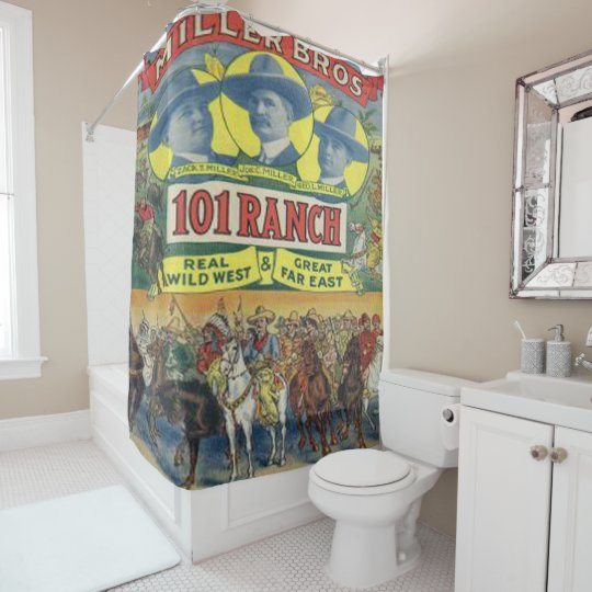 Delicieux Western 101 Ranch Wild West Show Rodeo Shower Curtain