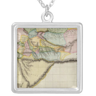 Western Africa Square Pendant Necklace