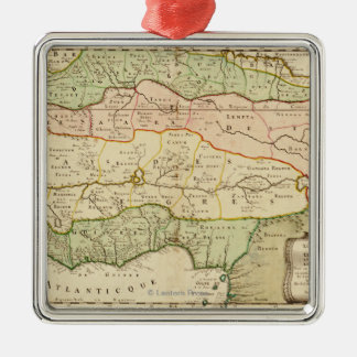 Western AfricaPanoramic MapWestern Africa Metal Ornament