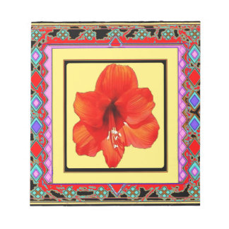 Western Amaryllis Red-Yellow Design Memo Pad