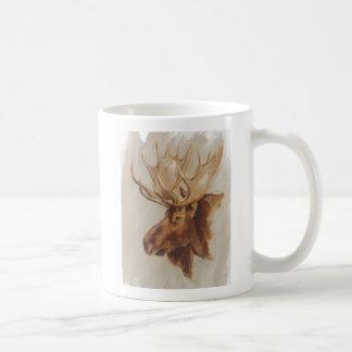 Western American Animal Study   Moose Portrait Coffee Mug