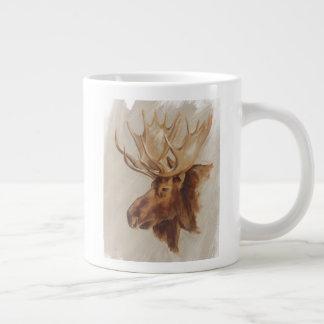 Western American Animal Study   Moose Portrait Giant Coffee Mug