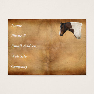 Western American Paint Horse Business Card