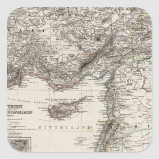 Western Asia and Syria Square Sticker