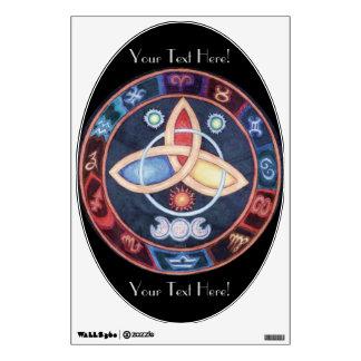 Western Astrology Wheel Room Stickers