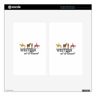 Western at Heart Decals For Kindle Fire