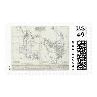 Western Australia and Tasmania Postage Stamp
