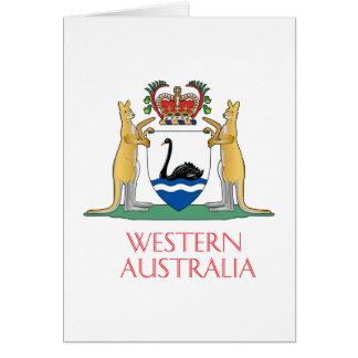 Western Australia coat of arms Card