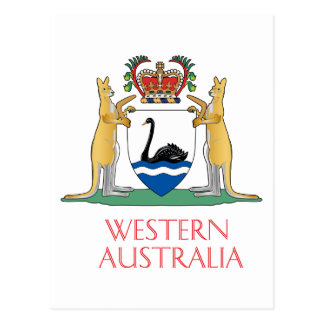 Western Australia coat of arms Post Cards