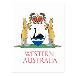 Western Australia coat of arms Postcard