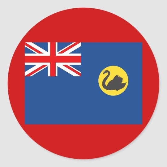 Western Australia Flag Classic Round Sticker