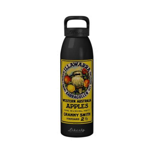 Western Australia Kookaburra Bird Apples Reusable Water Bottle