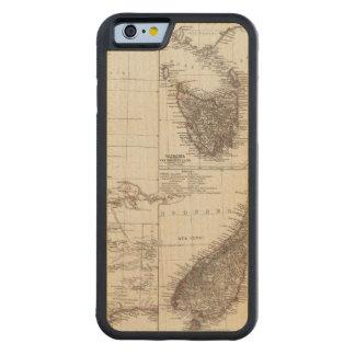 Western Australia Tasmania and New Zealand Carved Maple iPhone 6 Bumper Case